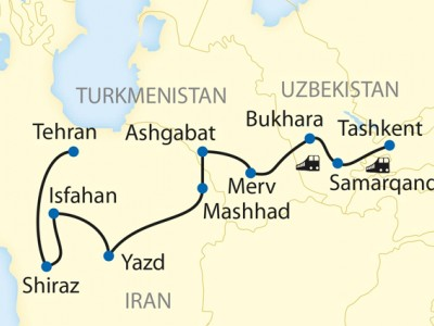 The Legendary Silk Road - Uzbekistan, Turkmenistan & Iran